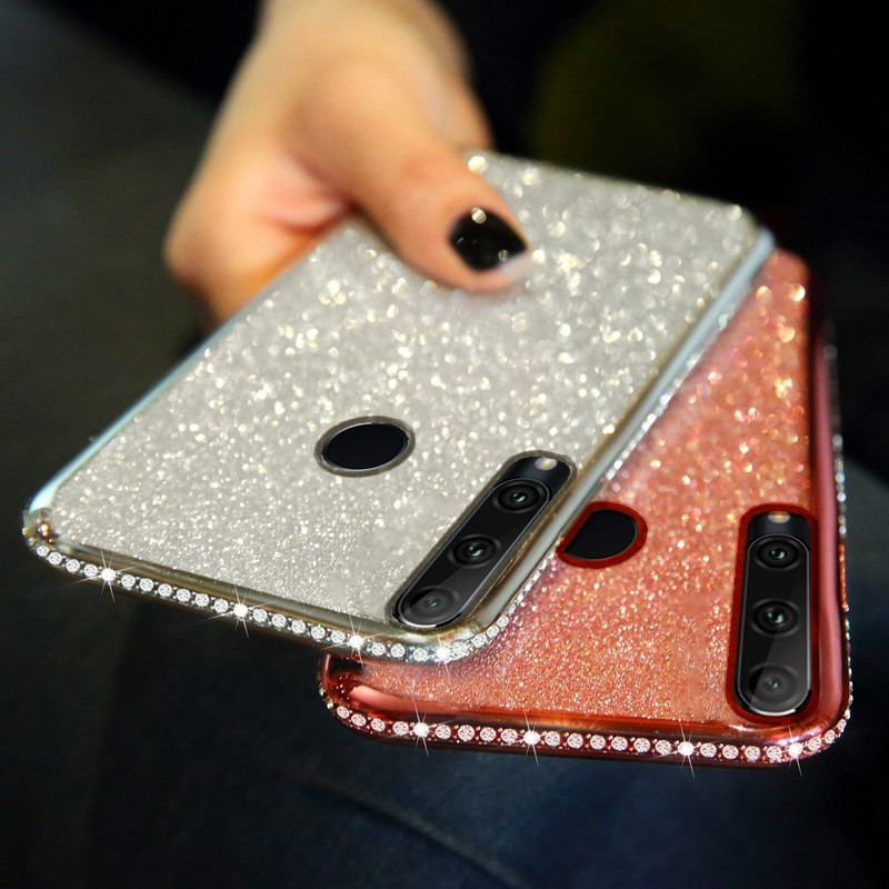 3D Diamond Case for Huawei P Smart Z 2019 P20 P30 Mate 20 Lite Honor 10 10i 20 Pro 20s 8A 8X 8C 8S P40 Glitter Silicone Cover(China)