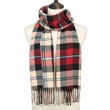 цена на men women plaid scarf 2019 winter cashmere scarf for women foulard femme long wool pashmina ladies shawls men business scarf