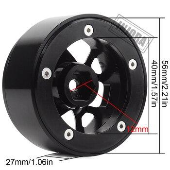 "INJORA 4PCS 2.0"" Metal Beadlock Wheel Hub Rim Fit 1.9 Tires for 1/10 RC Crawler Axial SCX10 90046 D90 Jeep Wrangler 2"