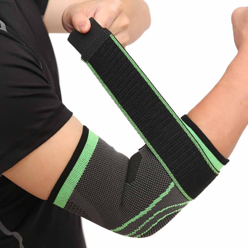 Men Elbow Pads Breathable Elbow Brace Support Pressurized Bandage for Sport Basketball Fitness Elastic Arm Elbow Protector