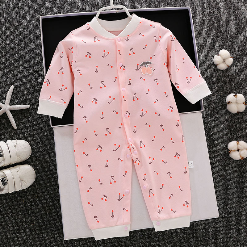 Newborn Infant Jumpsuit Baby Girls Fall And Winter Clothes Nursing CHILDREN'S Two 0 Three 3 Spring And Autumn 4 Four 5 Months A-