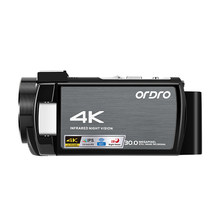Ordro AE8 Video Camera 4K Digital Camcorder with WiFi Night Vision for YouTube Vlogging Blogger Videos Shooting Filming