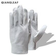 QIANGLEAF брендовые защитные перчатки D класса белые перчатки кожаные перчатки для мужчин оптом белые перчатки 130