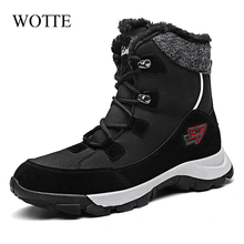 New Women Boots Winter Ankle Boots For Women Winter Shoes Couple Snow Boots Botas Mujer Warm Plush Shoes Woman Large Size 46