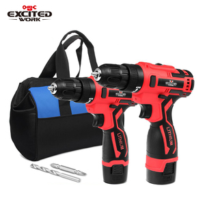 Electric Cordless Drill Screwdriver 3/8-Inch Mini Wireless Power Driver Tools Set With Drill Accessories By EXCITEDWORK