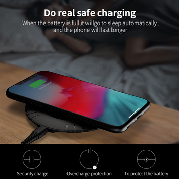 FLOVEME Qi Wireless Charger 10W Fast Wireless Charging Pad Usb Phone Charger For iPhone 8 11 Pro XS Max XR For Samsung S10 S9 S8 4