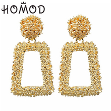 HOMOD 27 New Style Metal Pendant Exaggerated Earrings For Women Geometric Wedding Gifts Bohemian Alloy Wholesale