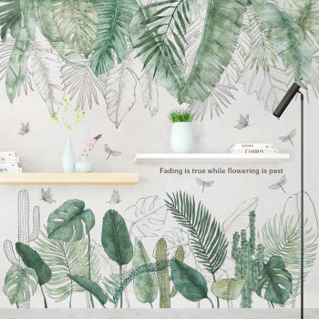 24 Style Green Leaf Wall Stickers