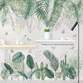 Наклейка на стену с зелеными листьями и сорняками в скандинавском стиле для спальни, гостиной, Декор, 3D наклейки для плитки, виниловые накле...