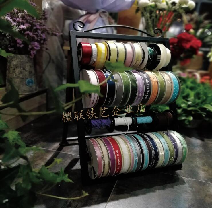 Creative New Tie Ribbon Rack Florist Packaging Supplies Ribbon Storage Rack Ribbon Ribbon Weaving Rack