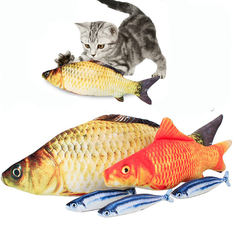 20/30/40 Cm Simulation Fish Plush Animals Toys Carp/Grass Carp Pillow Plush Toys Funny Pet Cat Plush Toys