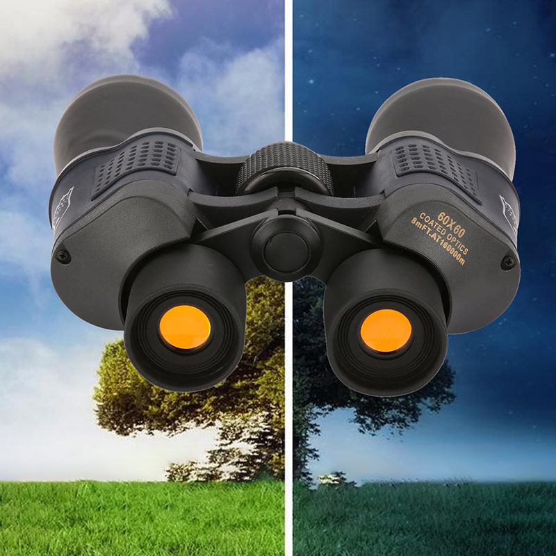 Zoom Telescope 30x60 Folding Binoculars With Low Light Night Vision For Outdoor Bird Watching Travelling Hunting Camping 1000m image