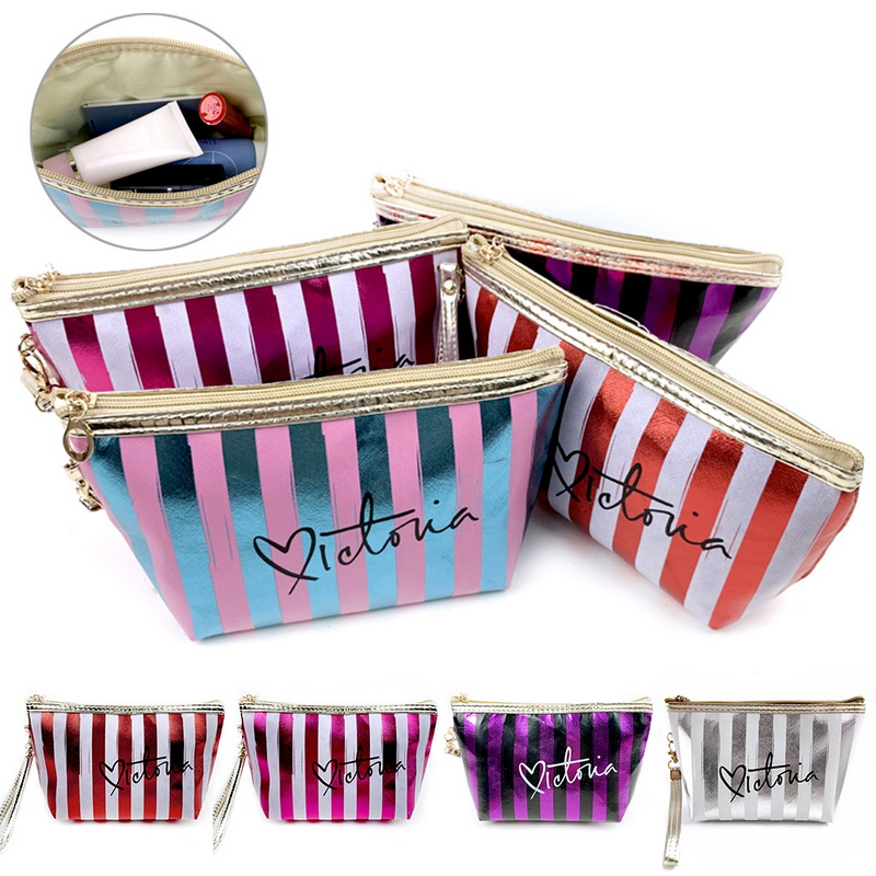 Travel Cosmetic Bag Portable Makeup Pouch Travel Organizer Purse Women Zipper Nylon Wash Pouch Toiletry Kits Storage Bag