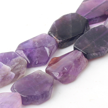Wholesale Natural Gem Stone AAA+ Grade Amethysts Flat Square 10*20mm Beads For Jewelry Making DIY Bracelet Necklace