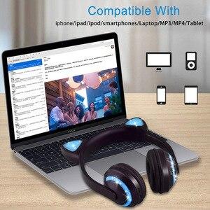 Image 3 - Cuffie Bluetooth con microfono, cuffie con luce a LED, cuffie con microfono