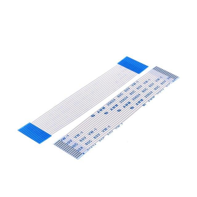 100 Pcs Flexibele Platte Kabel Ffc 15 Pin 1.0 Mm Pitch Dezelfde Richtingen Lengte 60 70 80 100 120 150 200 250 300 400 450 500 600 700 Mm