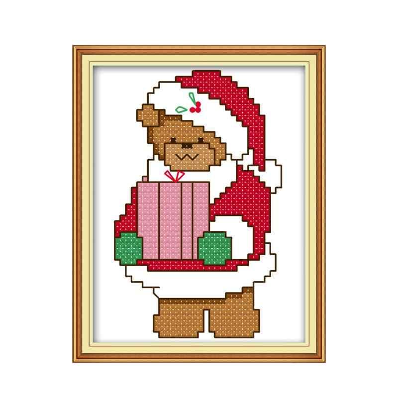 Joy Minggu Selamat Natal Cross Stitch Kit 14CT Pola DMC Dicetak Cina Bordir Menjahit Set Dekorasi untuk Rumah Set