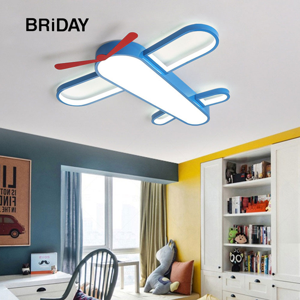 Aircraft ceiling light airplane lights for room lighting bedroom decor source mounted luminaire children led lamp blue lamps boy image
