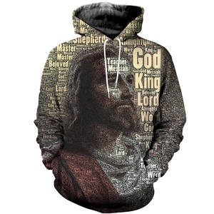 Image 1 - Liumaohua novo estilo homem hoodies jesus rei dos reis impressão 3d moda retro hoodie vestuário unisex casual streetwear