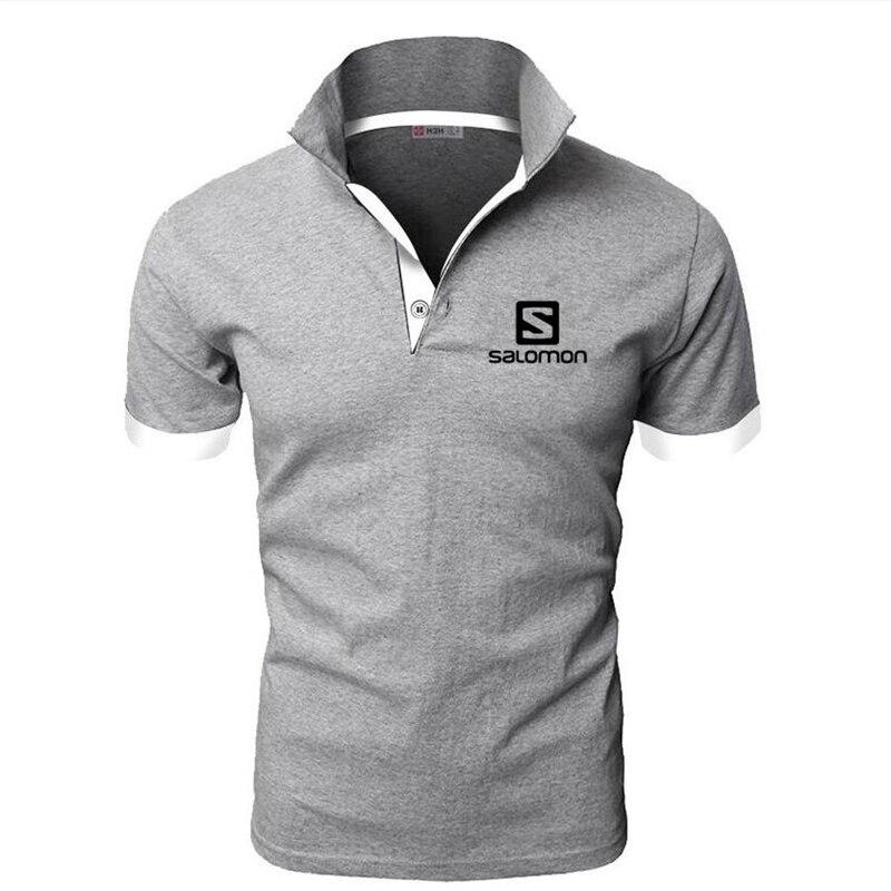 Men's Solomon   Polo   Shirt For Men Desiger   Polos   Men Short Sleeve shirt Clothes jerseys golftennis Plus Size M- 5XL