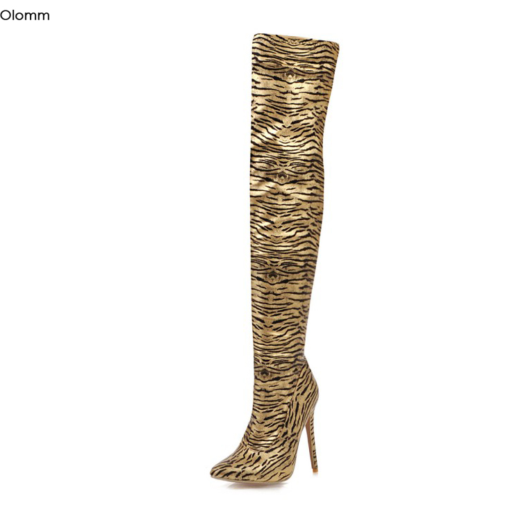 Stylish Women Over the Knee Boots Stiletto Platform Boots Shoes Woman Size 3-16