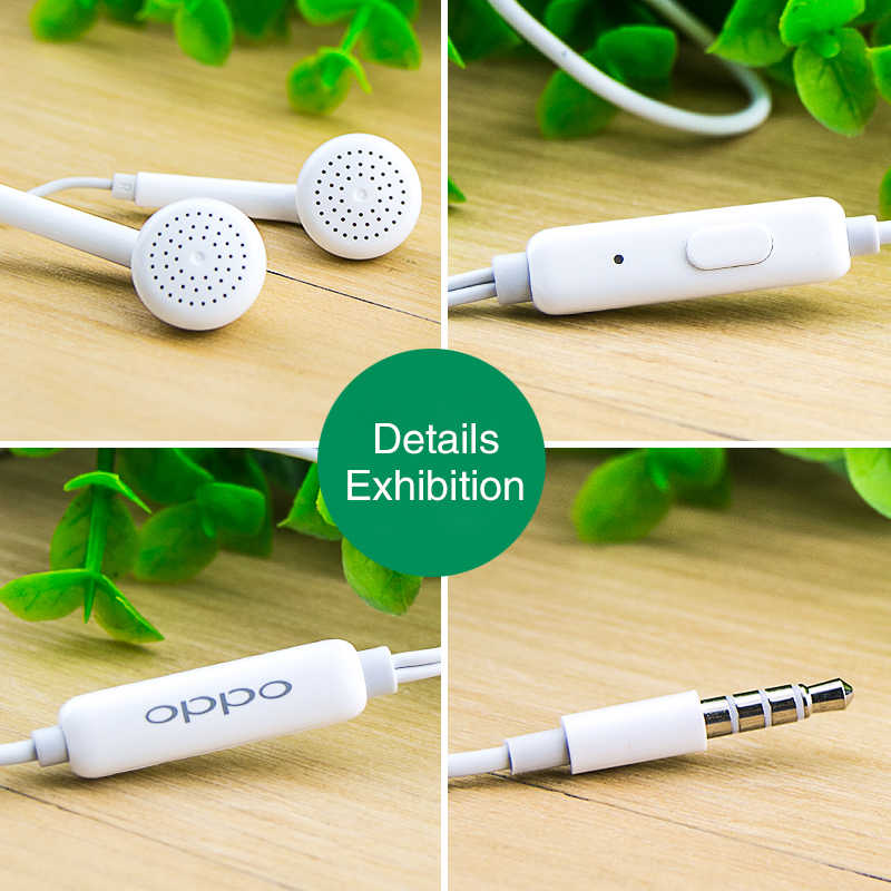 Écouteurs originaux 3.5mm OPPO MH133 avec micro pour Smartphone iphone Samsung Huawei Xiaomi Vivo Oneplus Htc