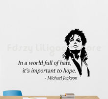 Michael Jackson cytaty winylowa tablica naścienna muzyka cytat naklejki plakat ozdobne malowidło ścienne do dekoracji domu Mural H704