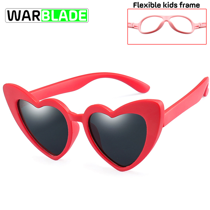 Warblade Polarized Sunglasses Safety-Frame UV400 Eyewear Kids Fashion Boys Heart-Shaped