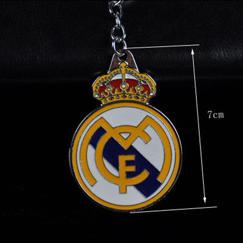 Football Club Logo Keychain Team Logo Keychain Key Ring Key Real Madrid CF For Football Fans Metal Cabochon Pendant Jewelry