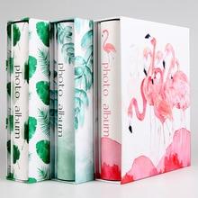 Фламинго 6 дюймов пластик большой емкости 200 вставные фотоальбомы горячая распродажа высокое качество семья ребенок путешествия памяти записи Книга