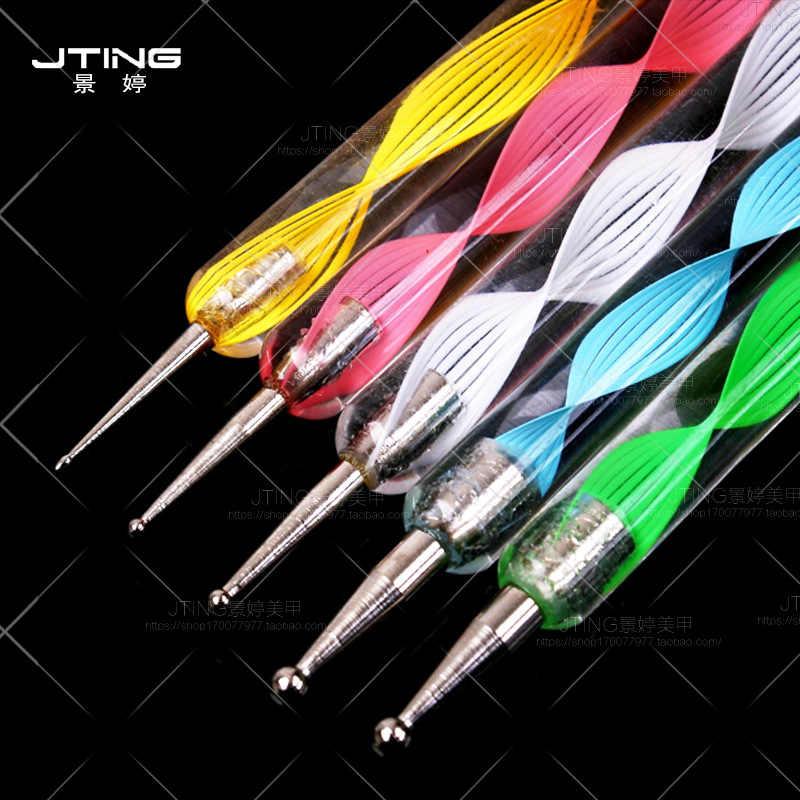 1 Pcs Nail Art Spot ปากกาดอกไม้เล็บชุดเล็บอะคริลิคเล็บชุดเครื่องมือสำหรับเล็บชุดเครื่องมือผงคริสตัลอะคริลิค