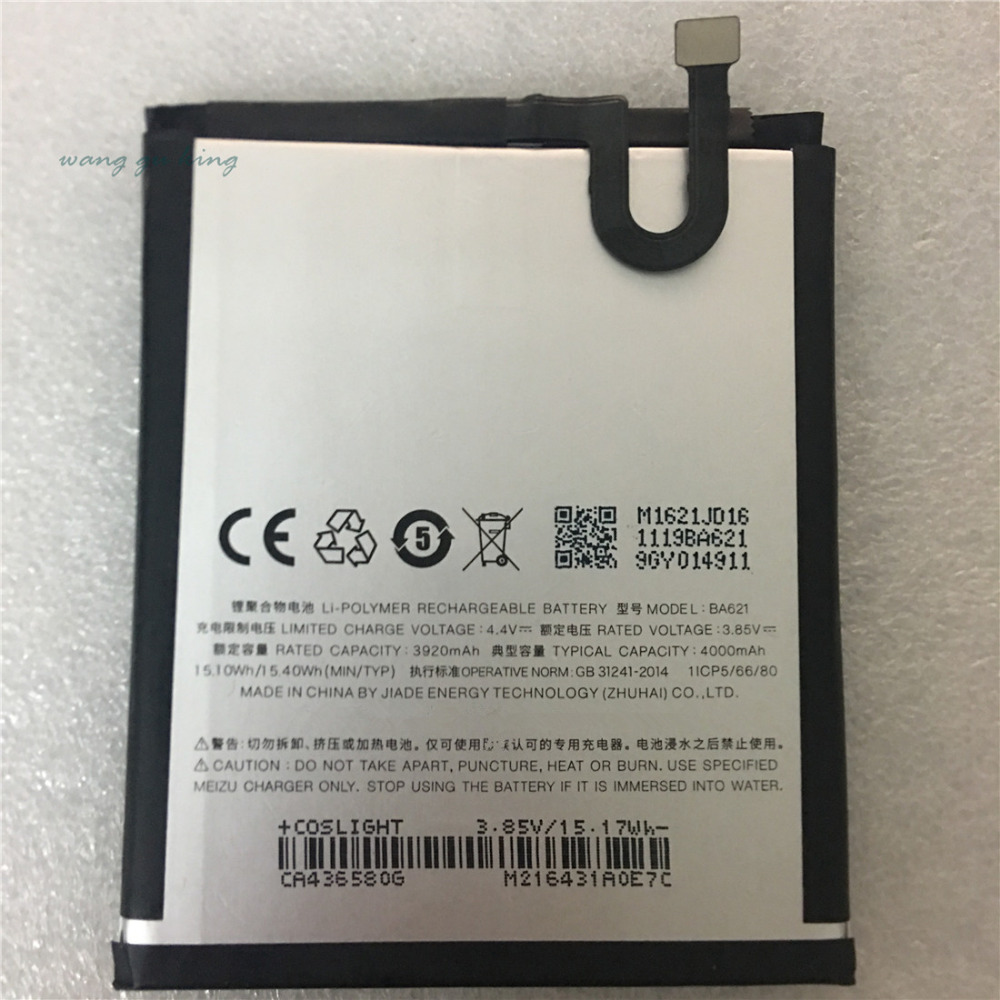 New battery for <font><b>Meizu</b></font> M5 Note Battery <font><b>BA621</b></font> Compatible MeiBlue M5 Note 5 Mobile Phone Batterie 4000mAh image