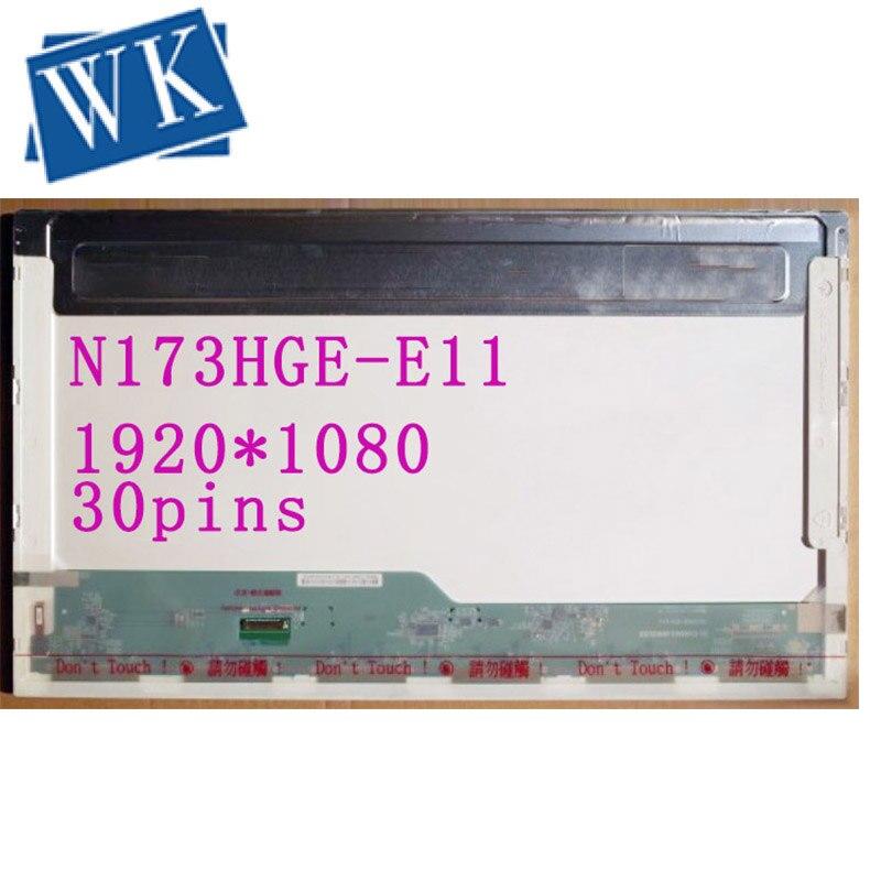 Free Shipping N173HGE-E11 N173HGE E11 N173HGE-E21 B173HTN01.1 1920*1080 FHD Display EDP 30 Pins