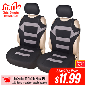 Image 1 - 2 Pieces Set T Shirt Design Front Car Seat Cover Universal Fit Car Care Coves Seat Protector for Car Seats Polyester Fabric