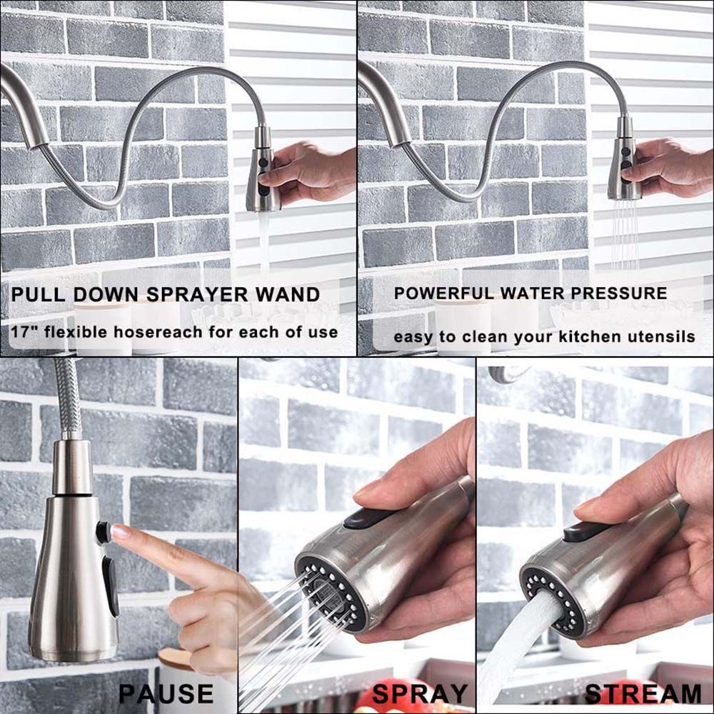 H34ff6d06762a417fae6fbf8b3cc72045T Black and Golden Filtered Crane For Kitchen Pull Out Sprayer drinking water Three Ways Water Filter Tap Kitchen Faucet hot cold