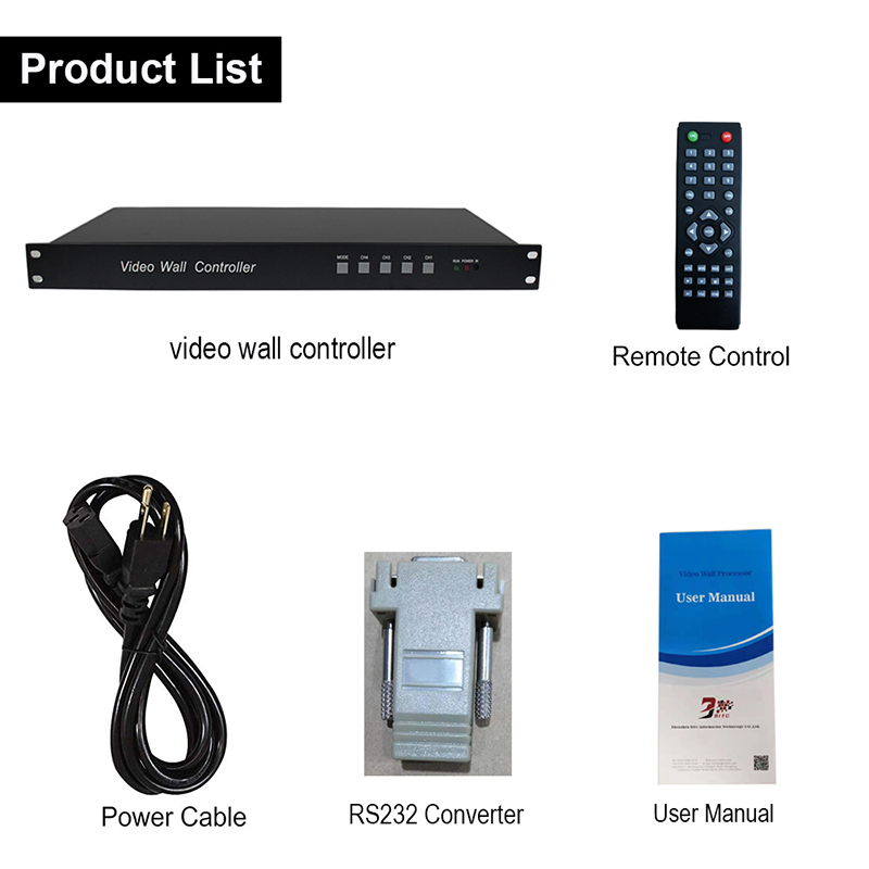 Image 5 - SZBITC Video Wall Controller 2x3 3x2 HDMI Splitter 1 in 6 out Video 180 Rotation RS232 with Remote Control for 6 TVs SplicingRadio & TV Broadcast Equipments   -