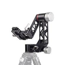 Cabeça panorâmica do tripé do cardan com qr placa 1/4 Polegada & 3/8 Polegada parafuso para a câmera de observação de aves smartphone carga máxima 25kg/55lb