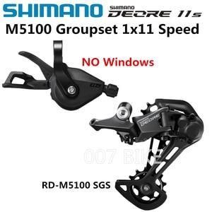 Image 2 - SHIMANO DEORE M5100 Groupset SL M5100 рычаг переключения передач RD M5100 задний переключатель передач MTB DEORE 11 скоростей SL + RD M5100 Groupset