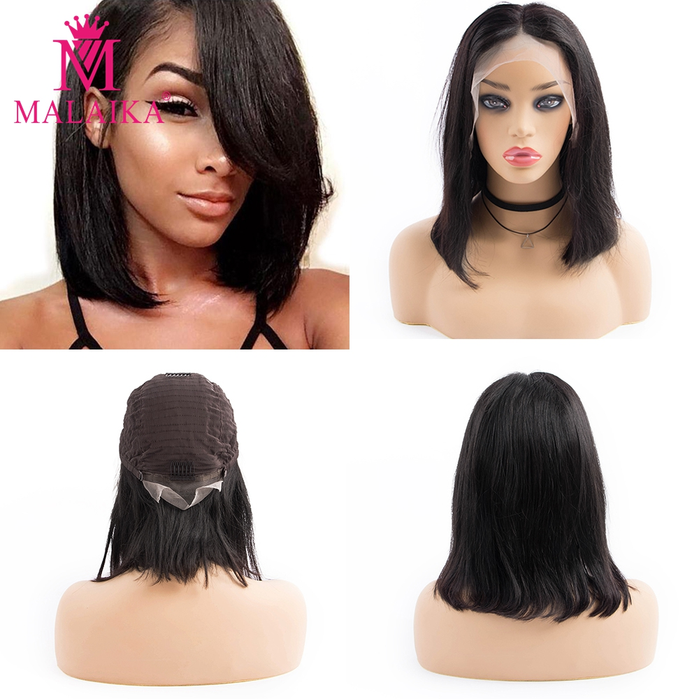 MALAIKA Pre Plucked  Human Hair Lace Front Wigs With Baby Hair Peruvian Wigs Glueless Human Hair Wigs For Black Women  Christmas