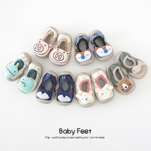 Socks Shoes Newborn Rubber Anti-Slip Toddler Infant Cartoon-Animals Baby-Boys-Girls Kids