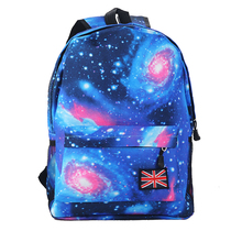 Women Men Fashion Backpacks Canvas Star Universe Space Bag T