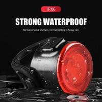 Miniluz LED trasera para bicicleta, Faro de seguridad para casco, luces para mochila, recargable vía Usb, IPX6 resistente al agua, novedad
