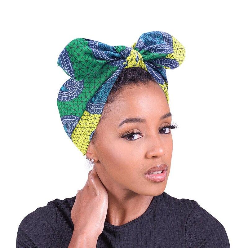 Neue Afrikanische Muster Drucken Stirnband für Frauen Twist Stil Schwarz Mädchen Kopf Wraps Elastische Haar Zubehör Turban Kopftuch