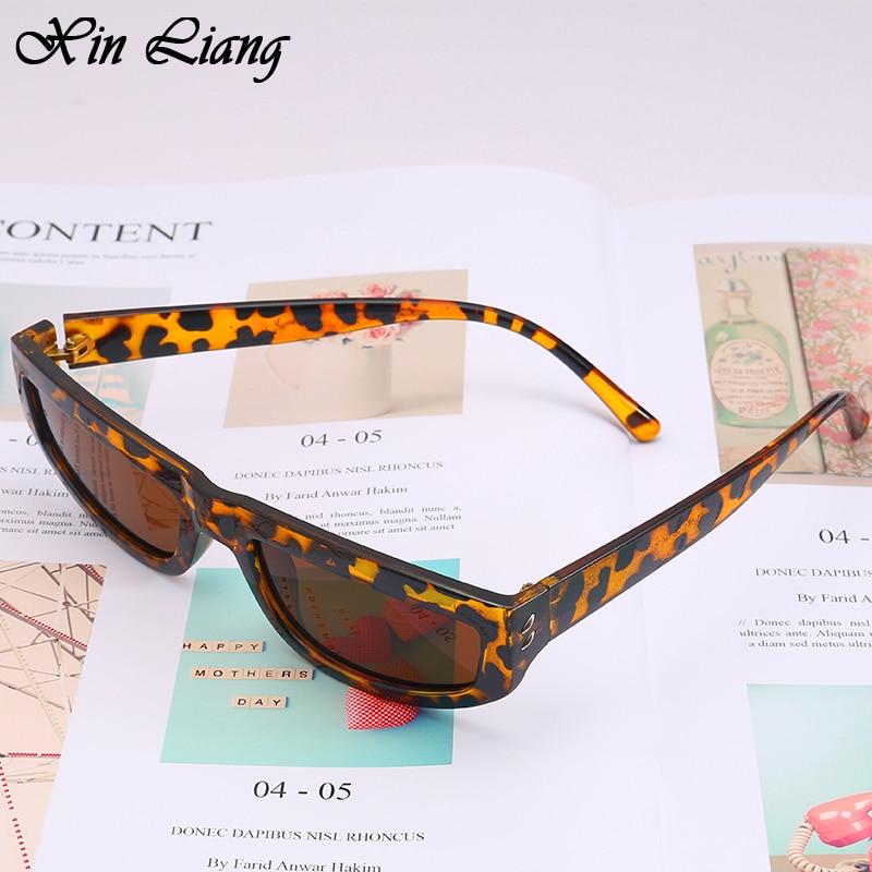 Men's Rectangular Sunglasses Women's Sexy Leopard Print Women's Shadow New Retro Square Black Pink Female UV400 Protection