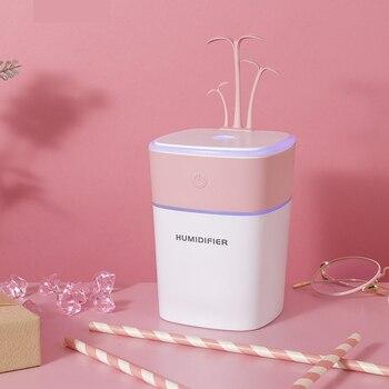 クリエイティブ草インテリジェント加湿器 USB 充電ポータブルデスクトップオフィス空気清浄機家庭用寮ギフト -