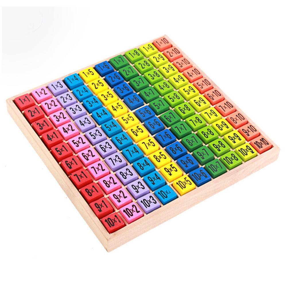 Дети Монтессори Обучающие деревянные игрушки 99 Таблица размножения математические игрушки для детей арифметические обучающие средства Ма...
