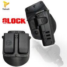 TOtrait glock аксессуары для винтовок, дробная полицейская кобура, поясная сумка, тактическая GL 2 Paddle, Пистолетная кобура Glock 17 19 22 23 31 32 34 35