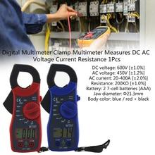 Portable Digital Clamp Multimeter AC/DC Current Voltage Transistor Tester Power Meter Ampere Clamp Meter Test Current Clamp dt a86 network hd combine tester tdr line breakpoint test multimeter power meter ac100 240v 4type plug clamp meter