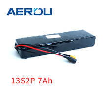 AERDU 48V 13S2P 7Ah 500Watt 18650 li-ion battery pack for electric bike Scooter skateboard bicycle built-in 15A BMS with XT60 DC