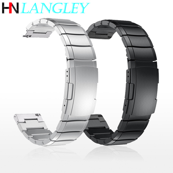 20mm 22mm Stainless Steel Strap for Samsung Active Watch 42mm Gear S3 S2 Classic Bands for Huami Amazfit GTR Bip Huawei GT Band